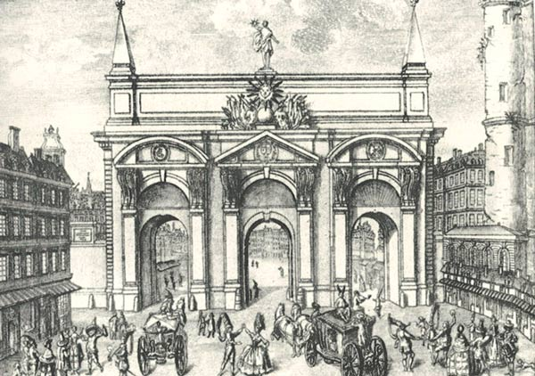 Ворота Сен-Антуан со стороны Парижа