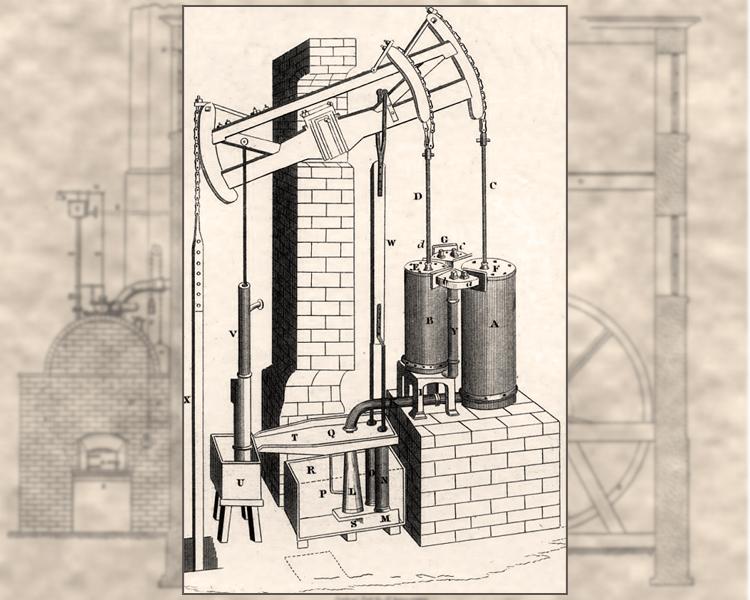 Джеймс Уатт получает патент на «На некоторые новые усовершенствования в паровых, Или огненных машинах для подъема воды и для других механических целей, а также на новые механизмы, применяемые для этого»
