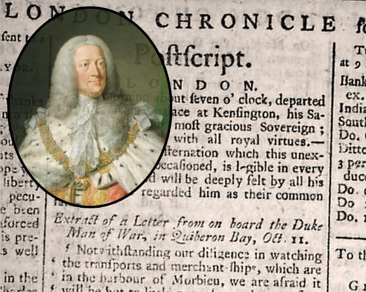Умер король Великобритании и Ирландии, курфюрст Ганноверский, Георг II
