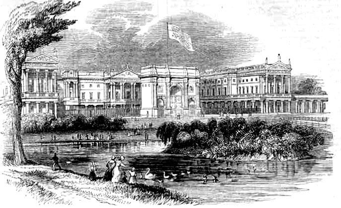 Букингемский дворец в 1842 году