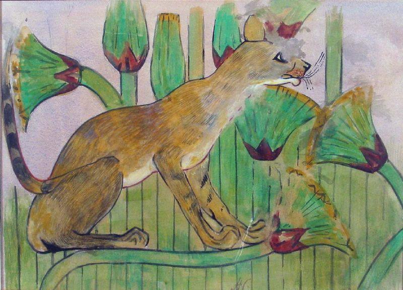 Кошка на болоте, Бени-Хасан