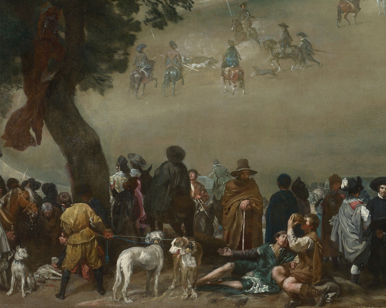 Филипп IV на охоте на диких кабанов (фрагмент), Веласкес