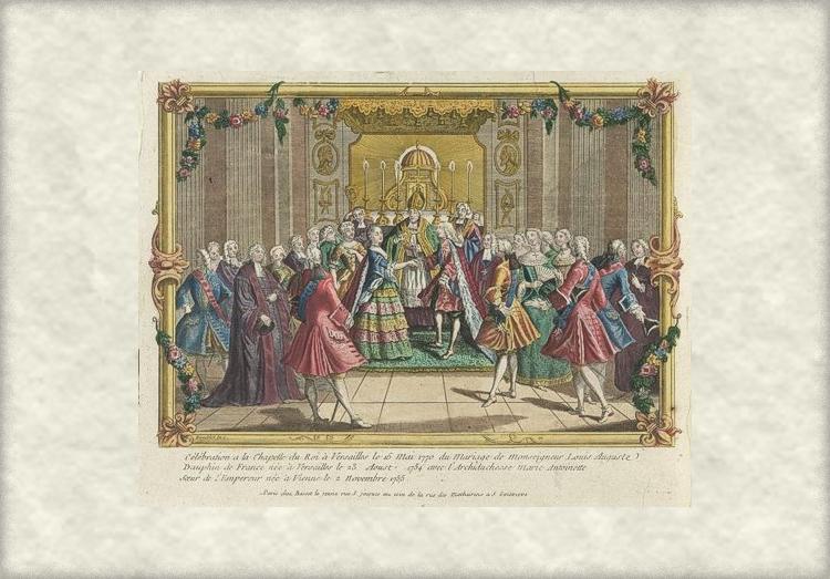 Брак между Людовиком Августом и Марией-Антуанеттой