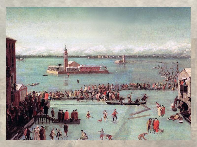 Венецианская лагуна замерзла