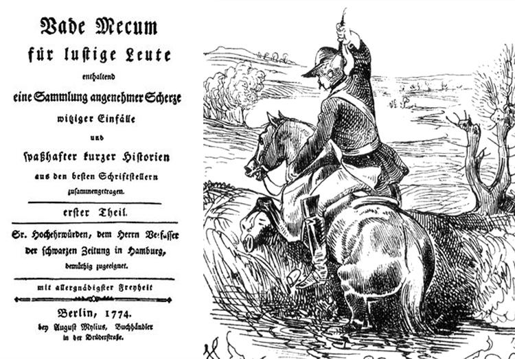 Публикация первых рассказов о бароне Мюнхгаузене