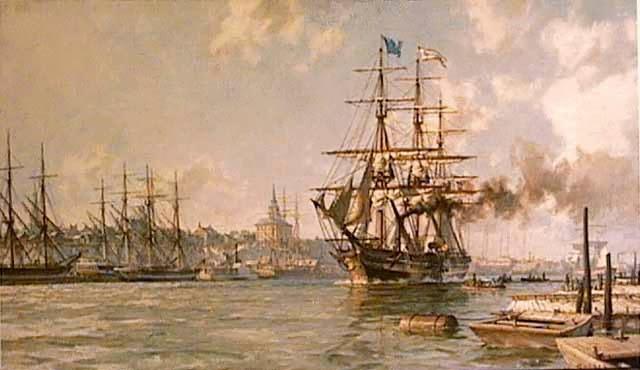 Первый пароход, пересёкший Атлантику