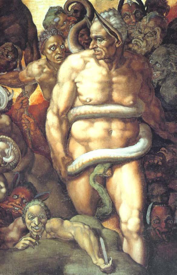 "Бьяджо да Чезена на фреске Микеланджело ""Страшный суд"""