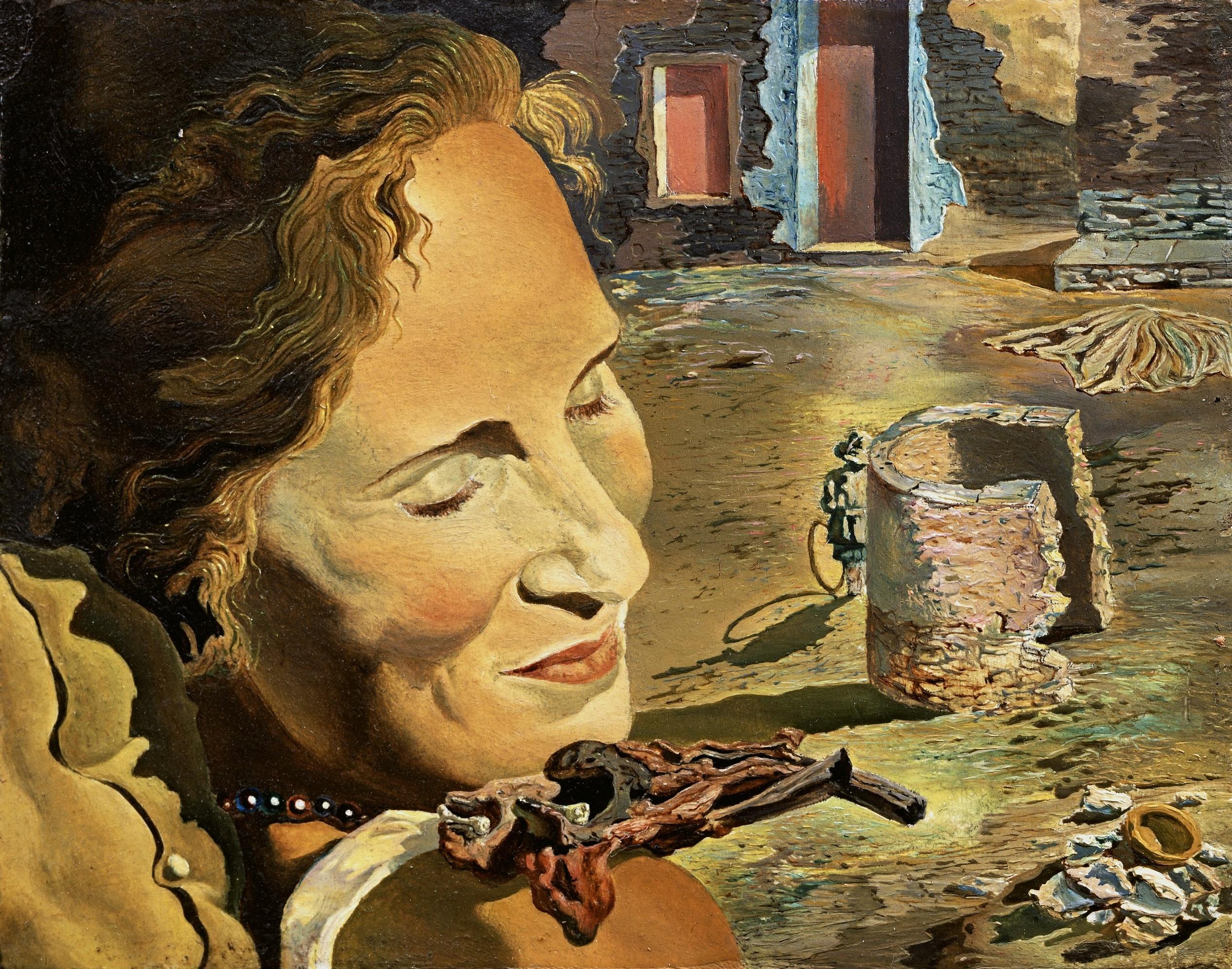Портрет Галы с двумя бараньими котлетами, находящимися в равновесии на ее плече