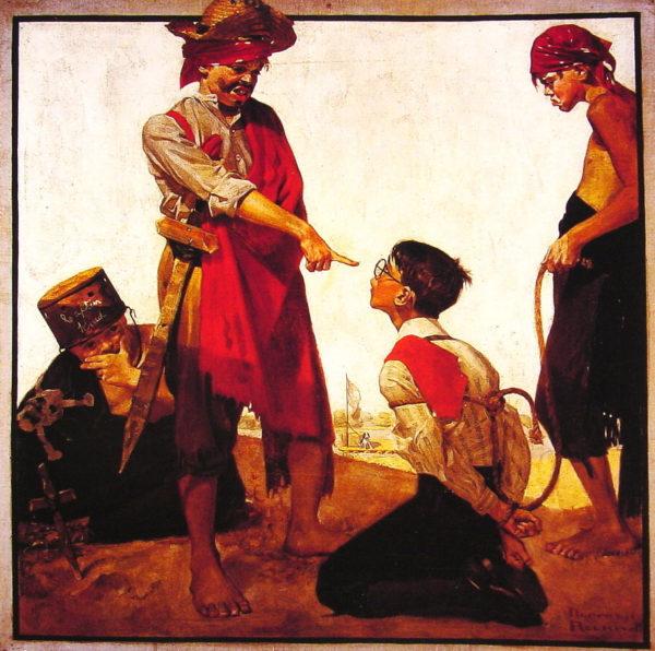 Кузен Реджинальд играет в пиратов (Норман Роквелл)