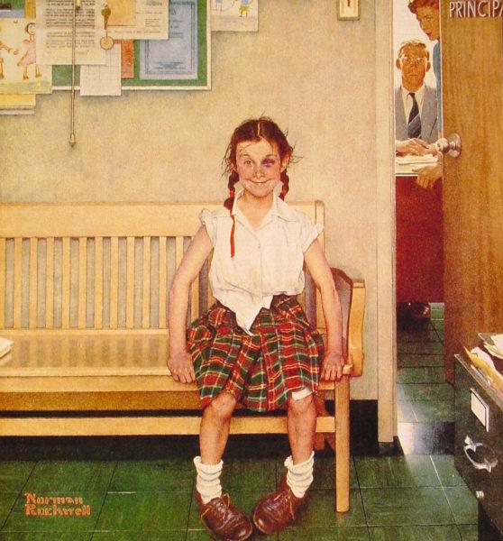 Девочка с фингалом (Норман Роквелл)