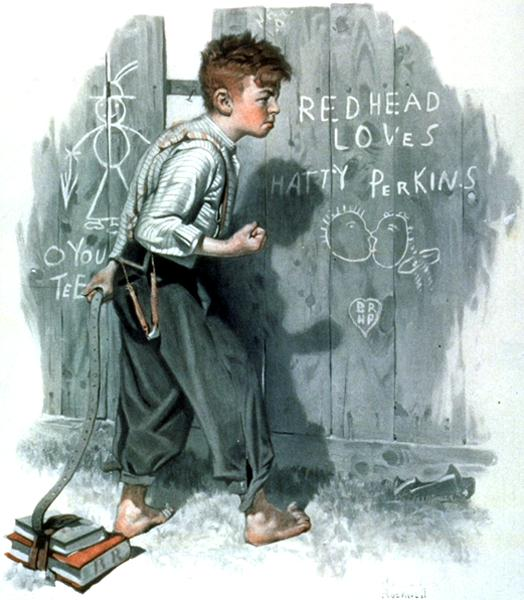 Писать на стенах и заборах - это один из немногих доступных детям методов самовыражения. Бесконтрольного самовыражения.