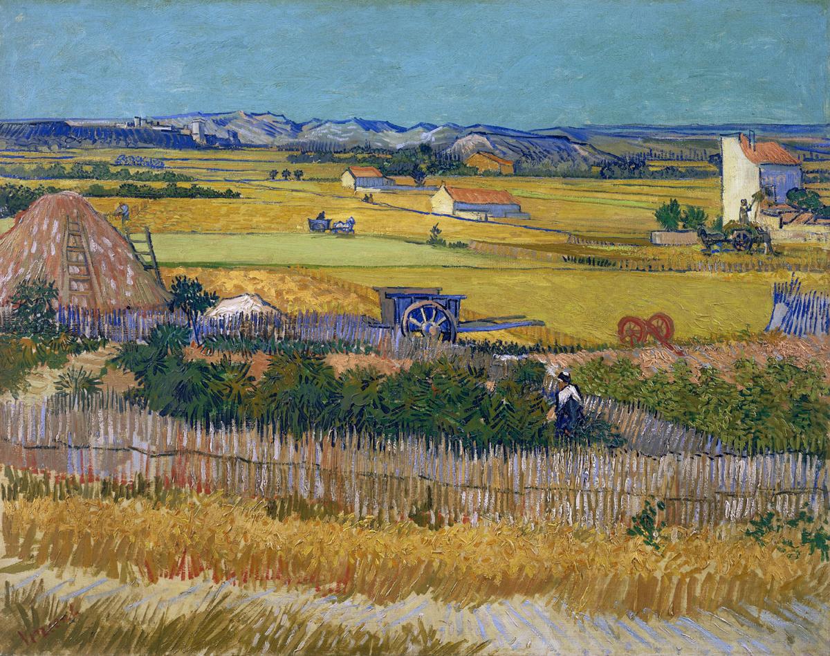 """Почему Ван Гог гений - """"Пейзаж с синей телегой"""", 1888"""