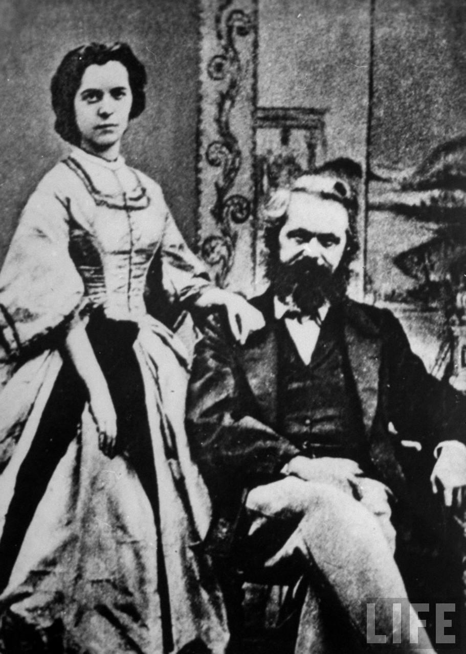 Карл Маркс и его жена, баронесса Женни фон Вестфален