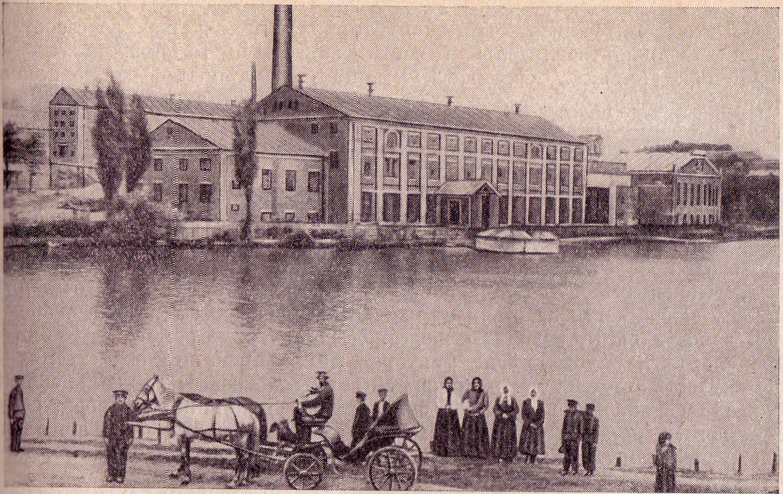 Сахарный завод Бродского в Шполе, построенный в 1851 году