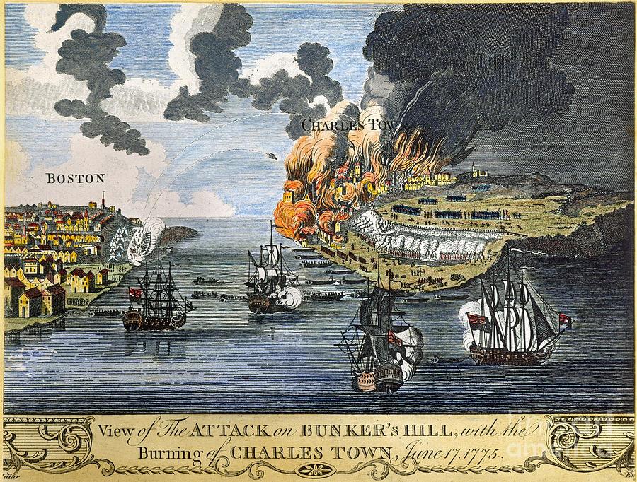 Гравюра, вероятно пытающаяся изобразить вторую атаку британцев