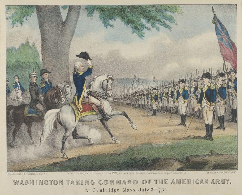 Джордж Вашингтон принимает командование над Континентальной армией