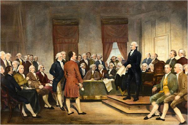 Заседания Континентального Конгресса происходили в камерной, почти домашней атмосфере.