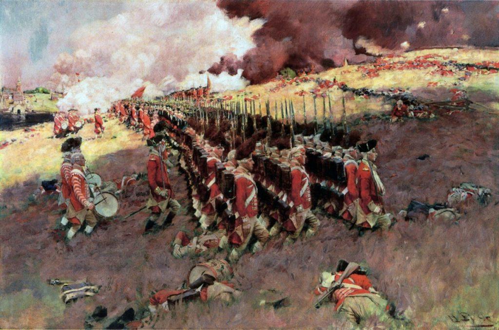 Третья и последняя атака британцев, правда, не совсем точно изображенная.
